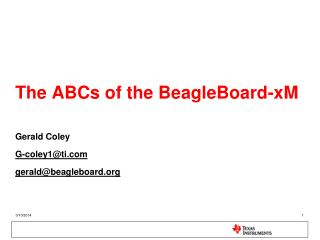 The ABCs of the BeagleBoard-xM