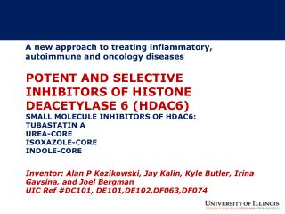 A new approach to treating inflammatory, autoimmune and oncology diseases