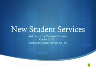 New Student Services