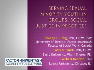 Serving Sexual Minority Youth in Groups: Social Justice in Practice?