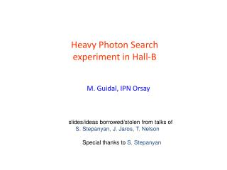 Heavy Photon Search  experiment in Hall-B