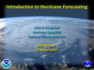 Introduction to Hurricane Forecasting