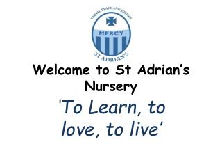 Welcome to St Adrian's Nursery