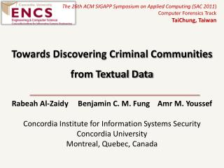 Towards Discovering Criminal Communities from Textual Data