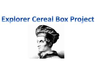 Explorer Cereal Box Project