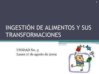 INGESTIÓN DE ALIMENTOS Y SUS TRANSFORMACIONES