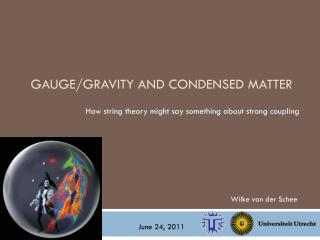 Gauge / gravity  and  condensed  matter