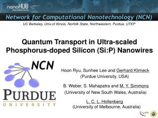 Quantum Transport in Ultra-scaled Phosphorus-doped Silicon ( Si:P )  Nanowires