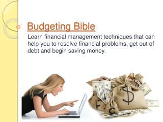 Budgeting Bible