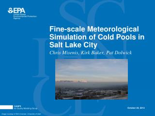 Fine-scale Meteorological Simulation of Cold Pools in Salt Lake City