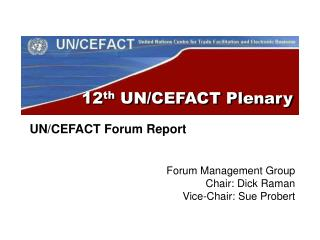 12 th  UN/CEFACT Plenary