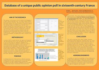 Database of a unique public opinion poll in sixteenth-century France