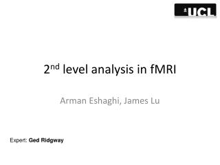 2 nd  level analysis in fMRI