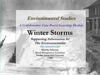 Environmental Studies A Collaborative Case Based Learning Module