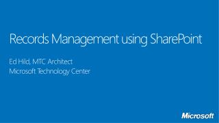 Records Management using SharePoint