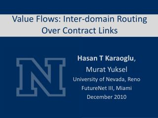 Value Flows: Inter-domain Routing Over Contract Links