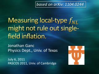Measuring local-type   might not rule out single-field inflation.