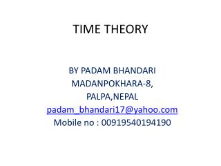 TIME THEORY