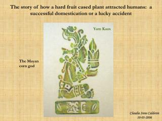 The story of how a hard fruit cased plant attracted humans:  a successful domestication or a lucky accident