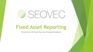 Fixed Asset Reporting