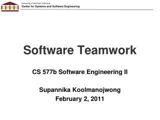 Software Teamwork