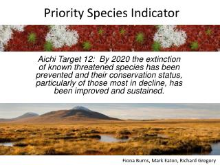 Priority Species Indicator