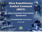 Navy Counselor Association  Symposium