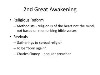 2nd Great Awakening