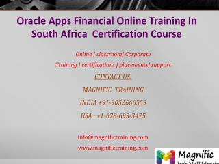Oracle Apps Financial Online Training In South Africa  Certi