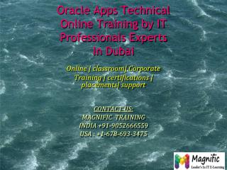 Oracle Apps Technical Online Training by IT Professionals Ex