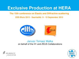 Exclusive Production at HERA