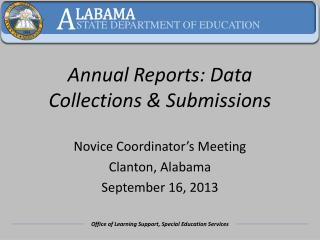 Annual Reports: Data Collections & Submissions