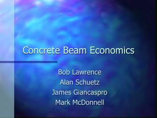Concrete Beam Economics