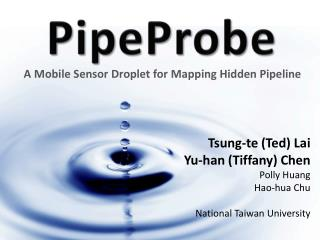 A Mobile Sensor Droplet for Mapping Hidden Pipeline
