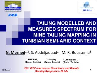 TAILING MODELLED AND MEASURED SPECTRUM FOR MINE TAILING MAPPING IN TUNISIAN SEMI-ARID CONTEXT