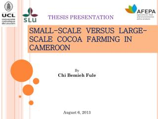 SMALL-SCALE  VERSUS  LARGE-SCALE  COCOA  FARMING  IN CAMEROON