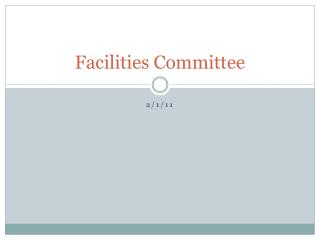 Facilities Committee