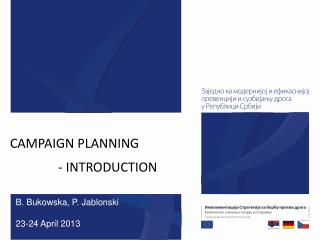 CAMPAIGN PLANNING                -  INTRODUCTION