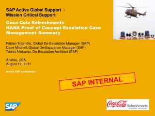 SAP Active Global Support  -  Mission Critical Support