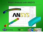 Beam Analysis with ANSYS