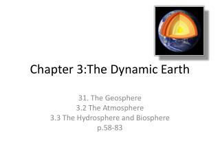 Chapter 3:The Dynamic Earth