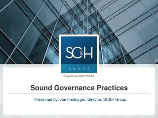 Sound Governance Practices
