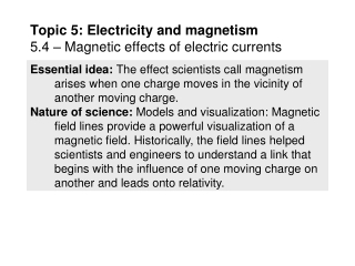 Electricity and Magnetism  Chapter 5