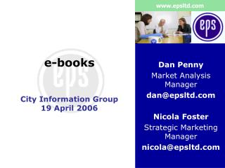 e-books City Information Group 19 April 2006