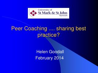 Peer Coaching ....  sharing  best practice?