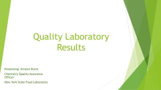 Quality Laboratory Results