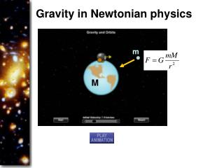 Gravity in Newtonian physics