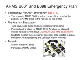 ARMS B061 and B098 Emergency Plan
