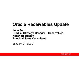 Oracle Receivables Update