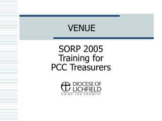 SORP 2005 Training for  PCC Treasurers